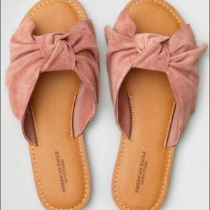 AEO oversized bow slide sandal
